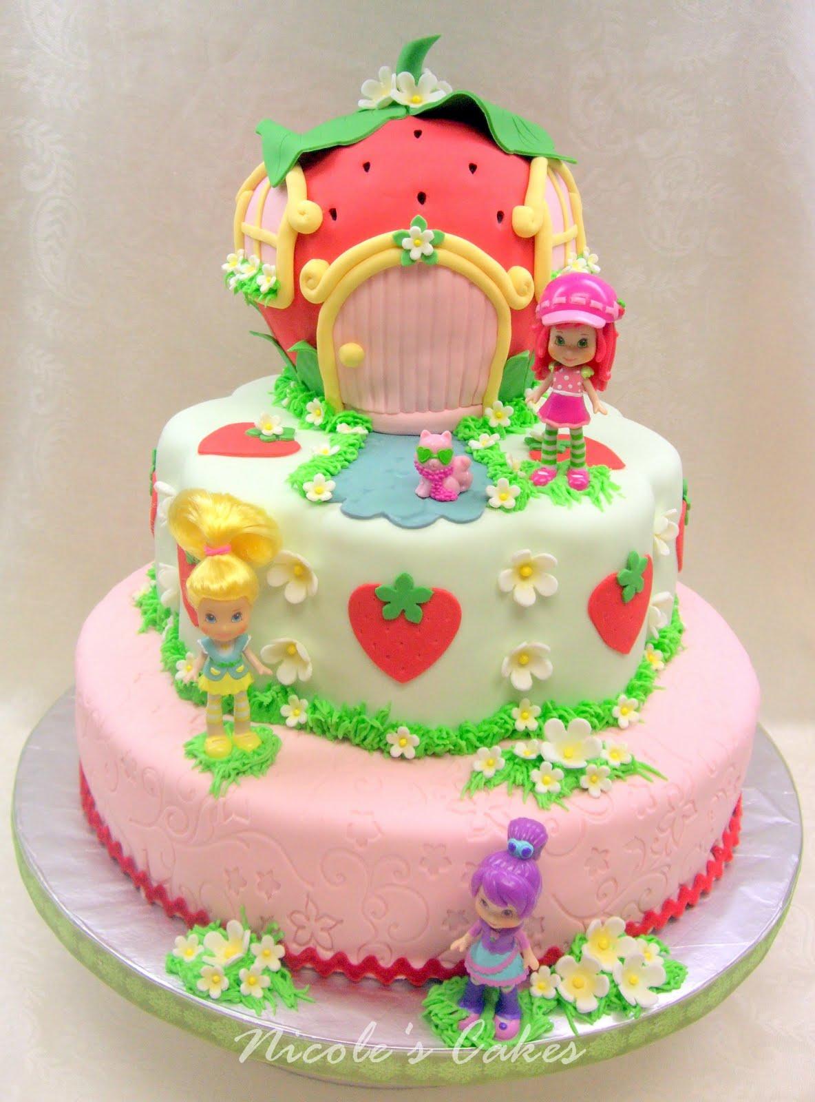 12 Strawberry Shortcake Bday Cakes Photo Strawberry Shortcake