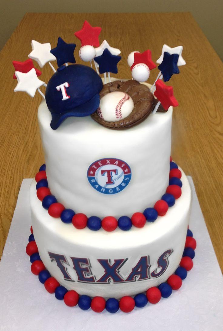 Swell 12 Texas Ranger Happy Birthday Cakes Photo Texas Rangers Cake Personalised Birthday Cards Veneteletsinfo