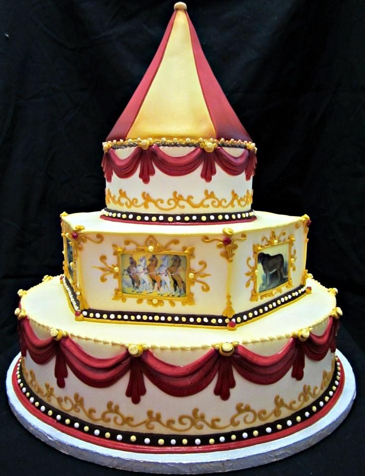 10 Circus Cakes Wedding Cakes Photo - Circus Themed Wedding Cake ...