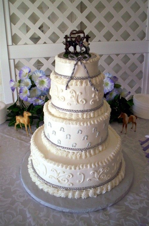 Western Theme Wedding Cake