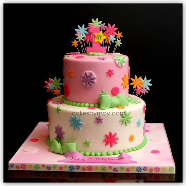 Peachy 12 Girly First Birthday Cakes Photo 1St Birthday Cake Ideas For Personalised Birthday Cards Xaembasilily Jamesorg