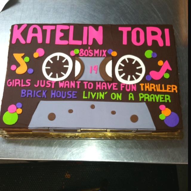 80s Cassette Tape Cake