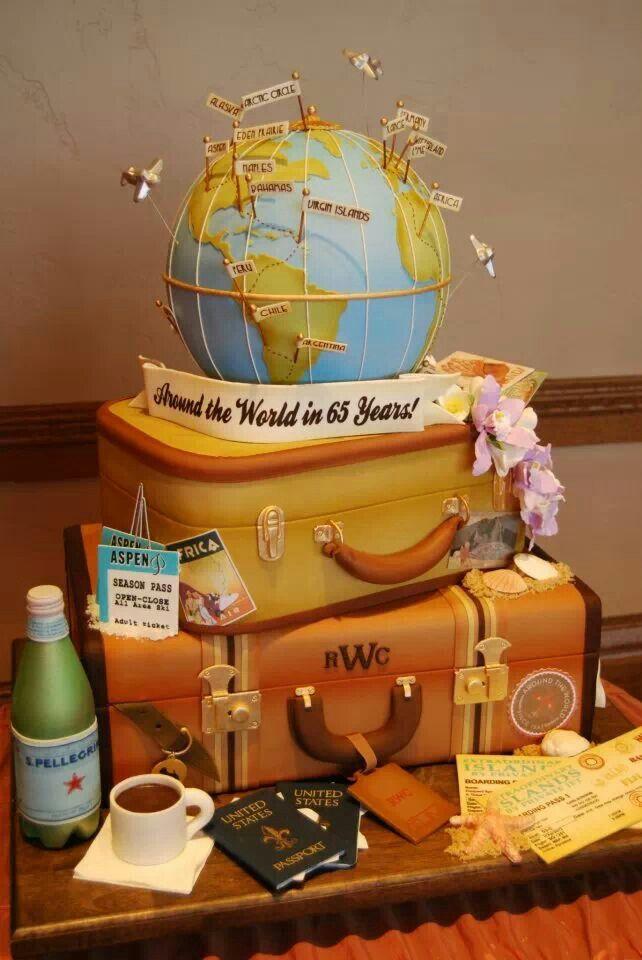 8 Pastel Travel Cakes Photo Pretty Birthday Cake Travel Themed