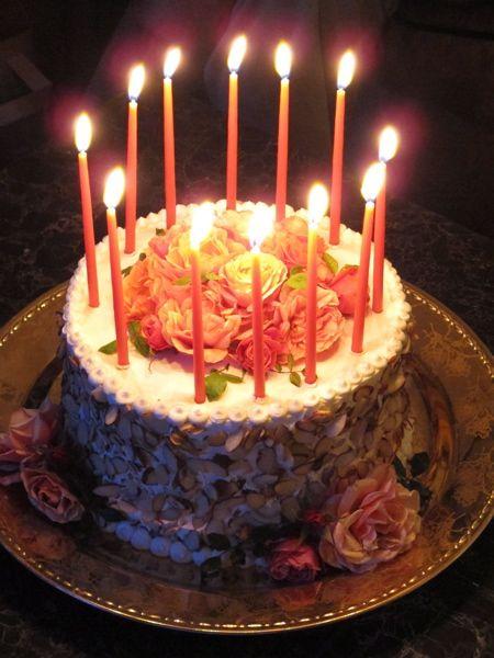 Fine 11 Beautiful Birthday Cakes With Candles Photo Happy Birthday Personalised Birthday Cards Akebfashionlily Jamesorg