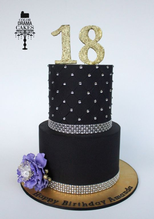 8 Black Bling Cakes Photo Black And White Wedding Cake Cupcakes
