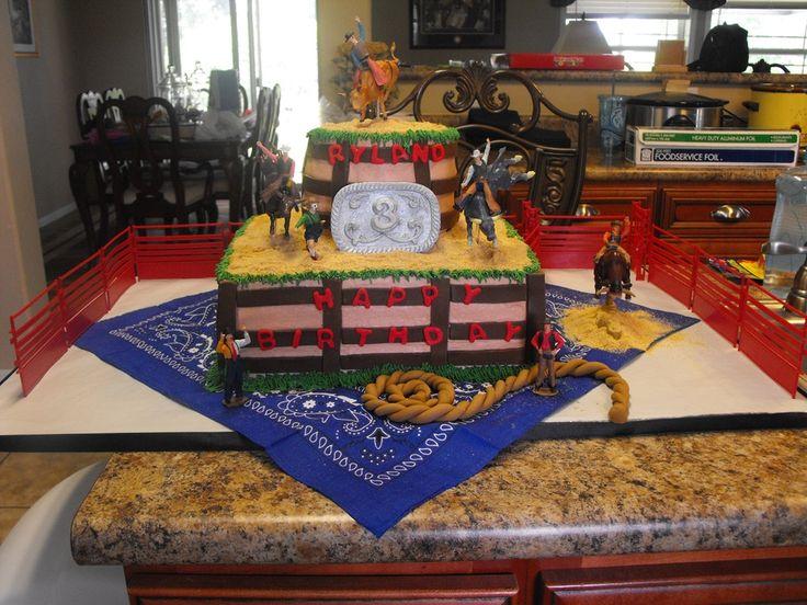 Bull Rider Birthday Cake
