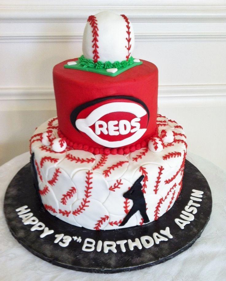 Sensational 10 Birthday Cakes Cincinnati Ohio Photo Cincinnati Reds Baseball Personalised Birthday Cards Paralily Jamesorg