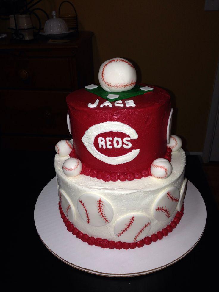 Admirable 10 Birthday Cakes Cincinnati Ohio Photo Cincinnati Reds Baseball Personalised Birthday Cards Veneteletsinfo