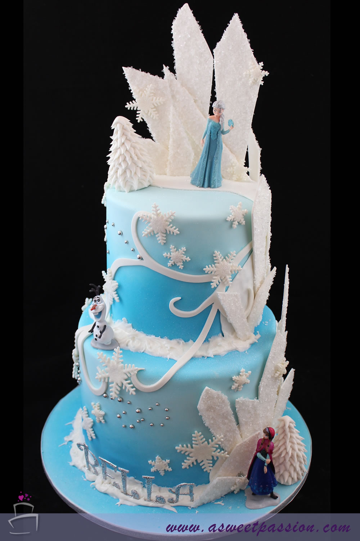 Phenomenal 13 Cute Frozen Girls Birthday Cakes Photo Disneys Frozen Cake Birthday Cards Printable Giouspongecafe Filternl
