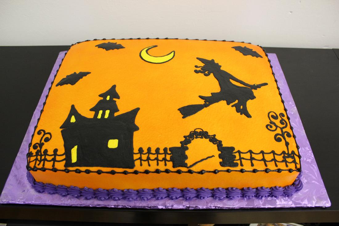 12 Halloween Birthday Sheet Cakes Photo Halloween Birthday Sheet