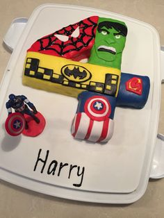 Hulk Birthday Cake Number 4