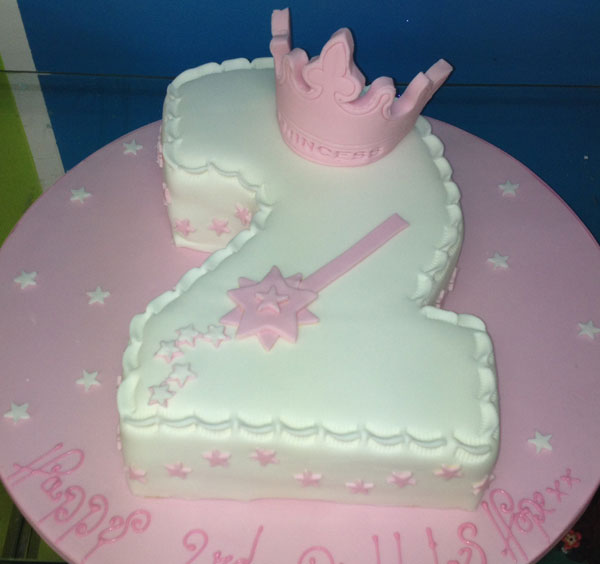 Little Girl Princess Birthday Cake