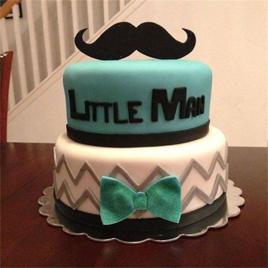 13 Mustache Cakes For Boys Photo Little Man Mustache Baby Shower