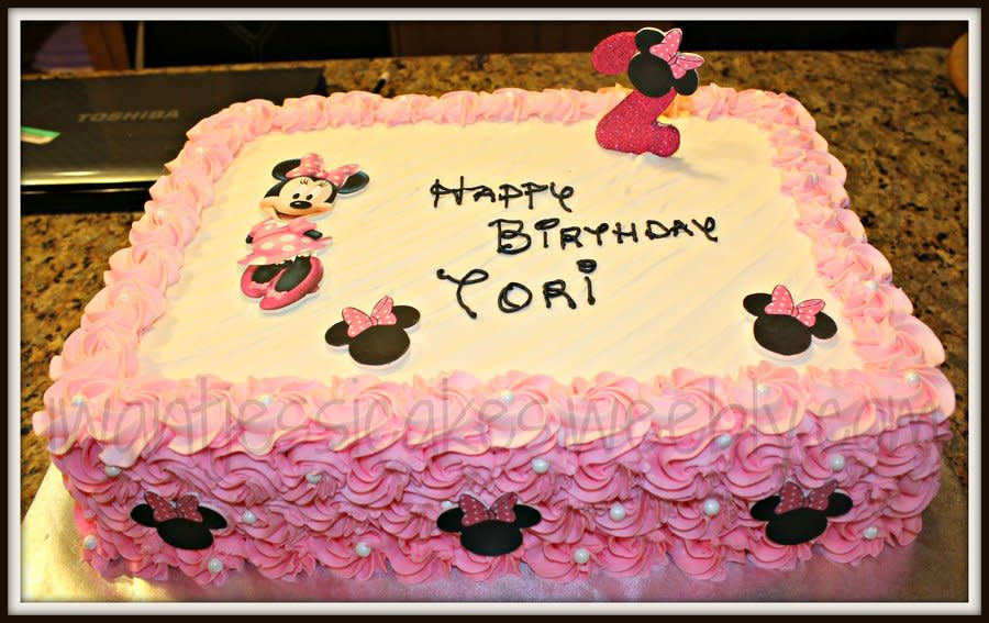 Remarkable 13 For 2Nd Birthday Minnie Mouse Sheet Cakes Photo Minnie Mouse Funny Birthday Cards Online Amentibdeldamsfinfo
