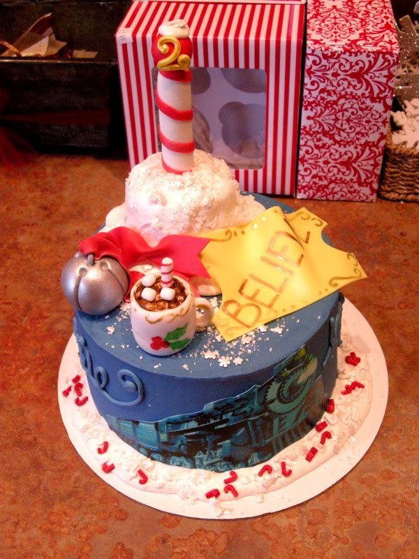 Tremendous 12 Christmas Cakes Polar Express Train Images Photo Polar Funny Birthday Cards Online Fluifree Goldxyz