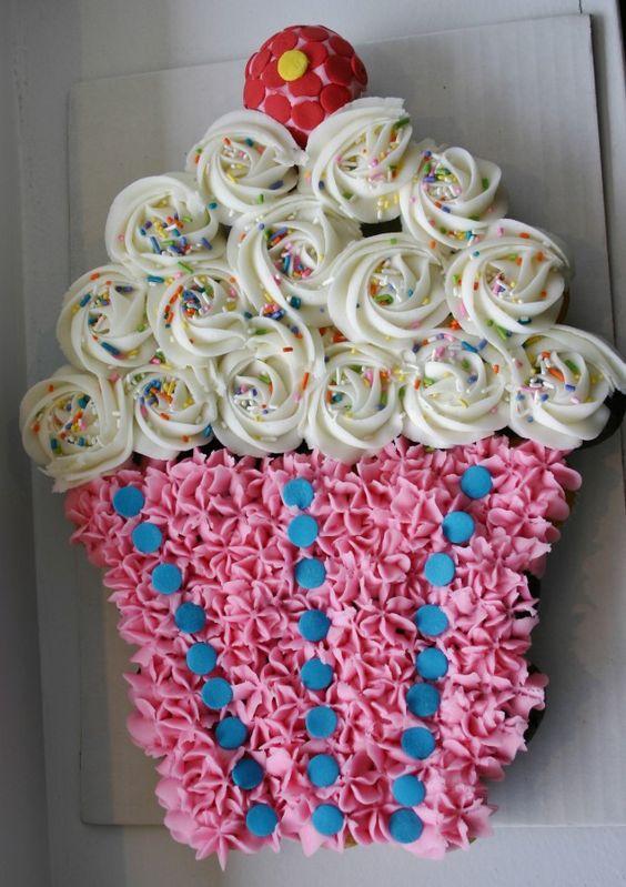 Pull Apart Cupcake Birthday Cake