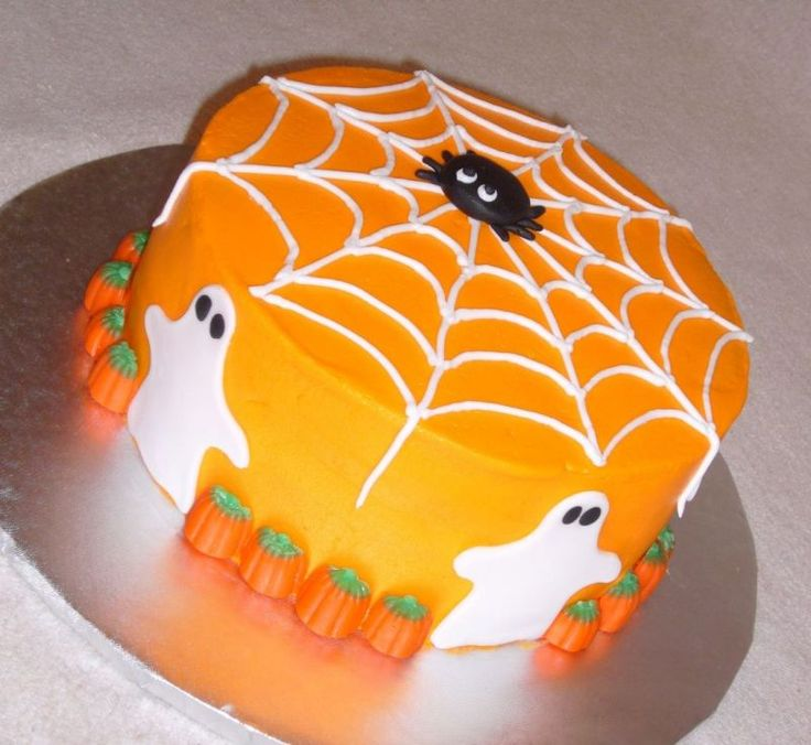 8 Easy Homemade Halloween Cakes Photo Pumpkin Halloween Cake Ideas