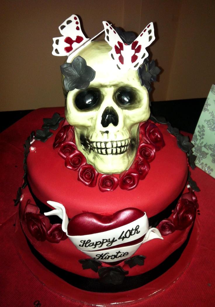 Marvelous 10 Skull Birthday Cakes For Him Photo Skull Birthday Cake Happy Funny Birthday Cards Online Eattedamsfinfo