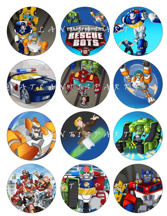 Transformer Rescue Bots Cupcake Toppers
