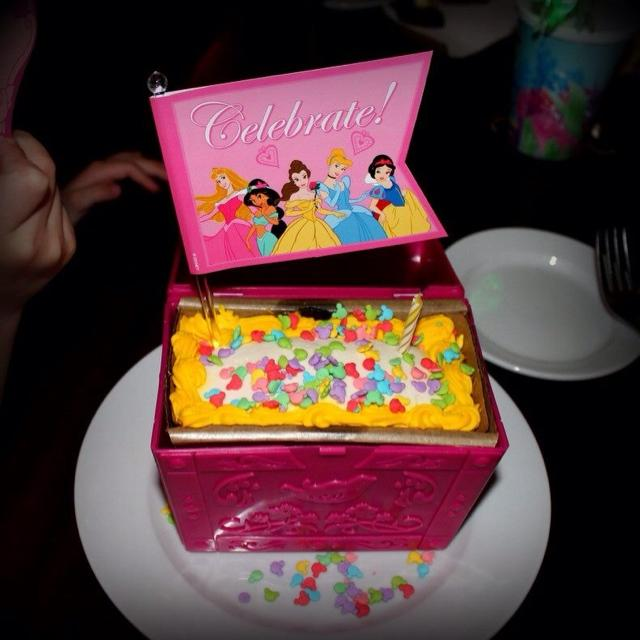 Disneyland Hotel Birthday Cake Via Ariels Grotto