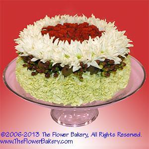 11 Arrangements Of Cakes Photo Birthday Cake Flower Arrangement