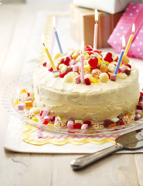 6 Birthday Cakes In Sainsbury Store Photo