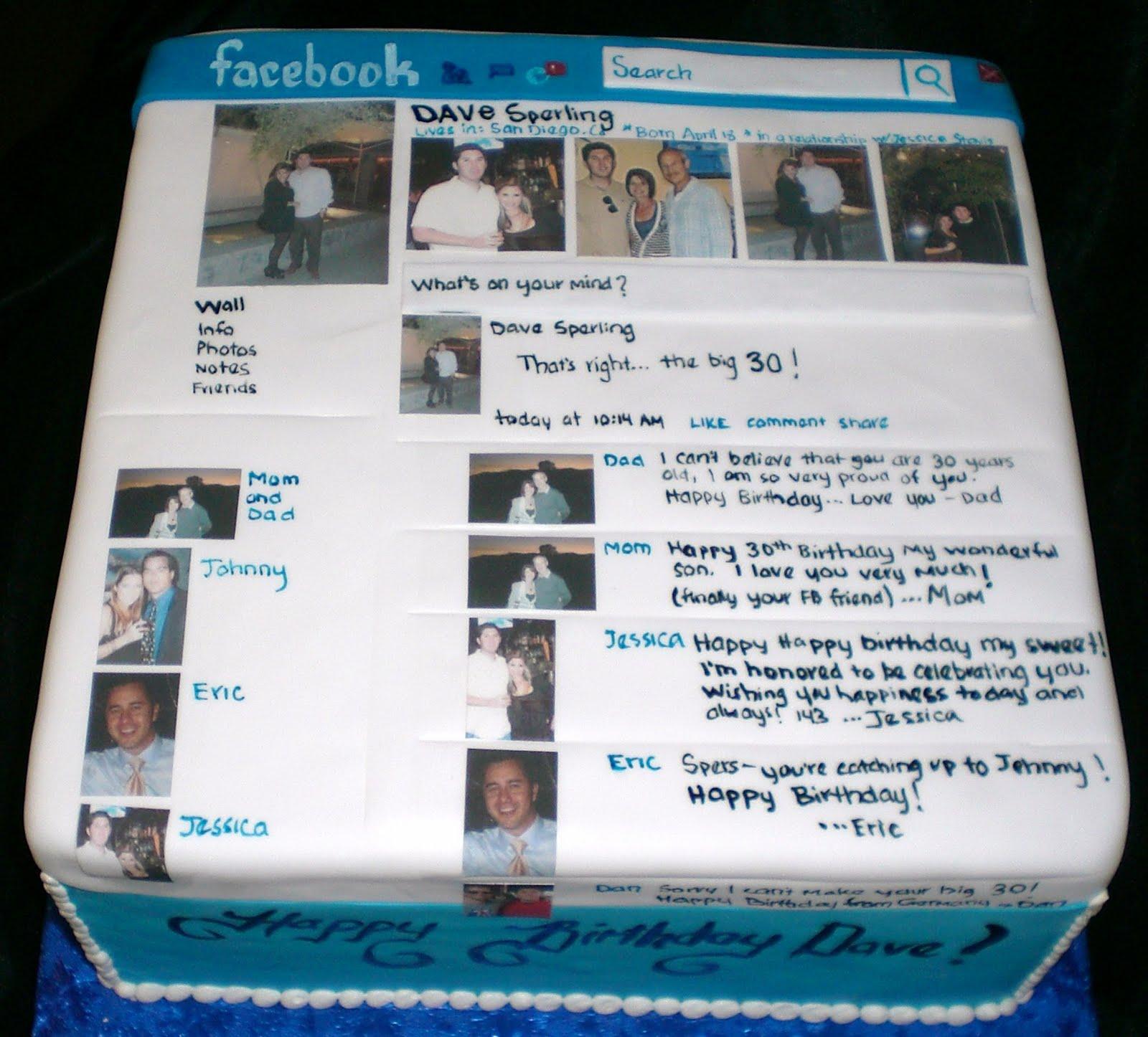 Birthday Cakes On Facebook