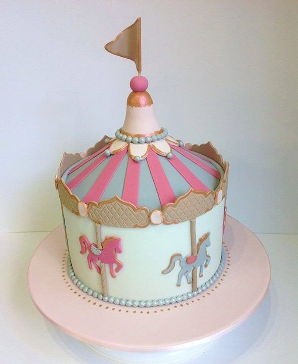 10 Simple Carousel Cakes Photo Carousel Birthday Cake How To Make