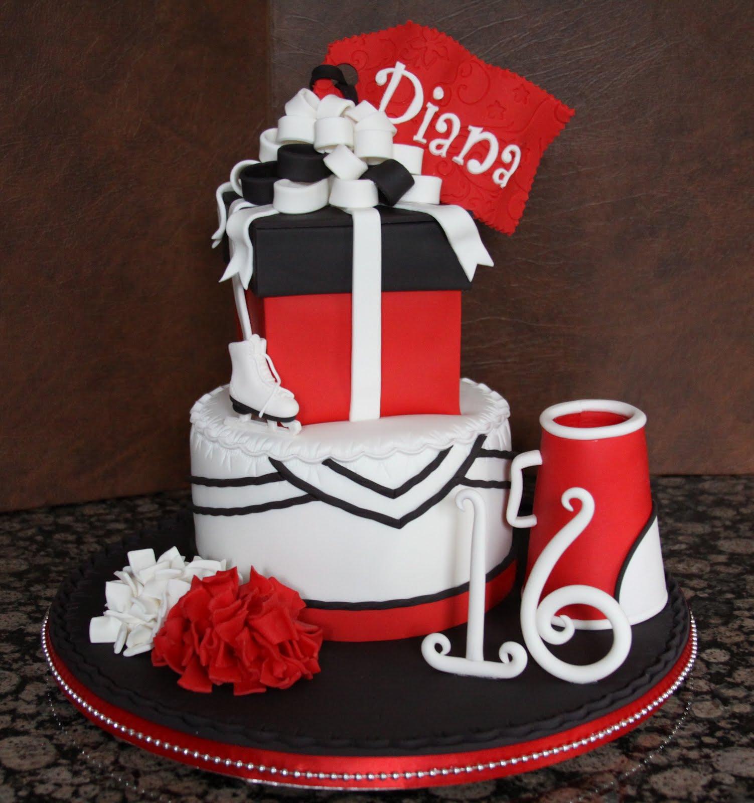 10 Cakes With Cheerleading Megaphone And Pom Pom Photo