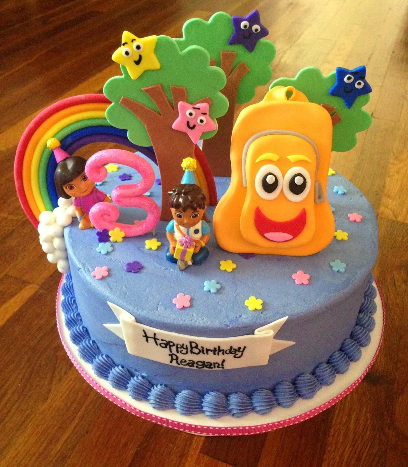 Magnificent 10 Dora And Diego Cakes Photo Dora Diego Birthday Cake Dora Funny Birthday Cards Online Alyptdamsfinfo