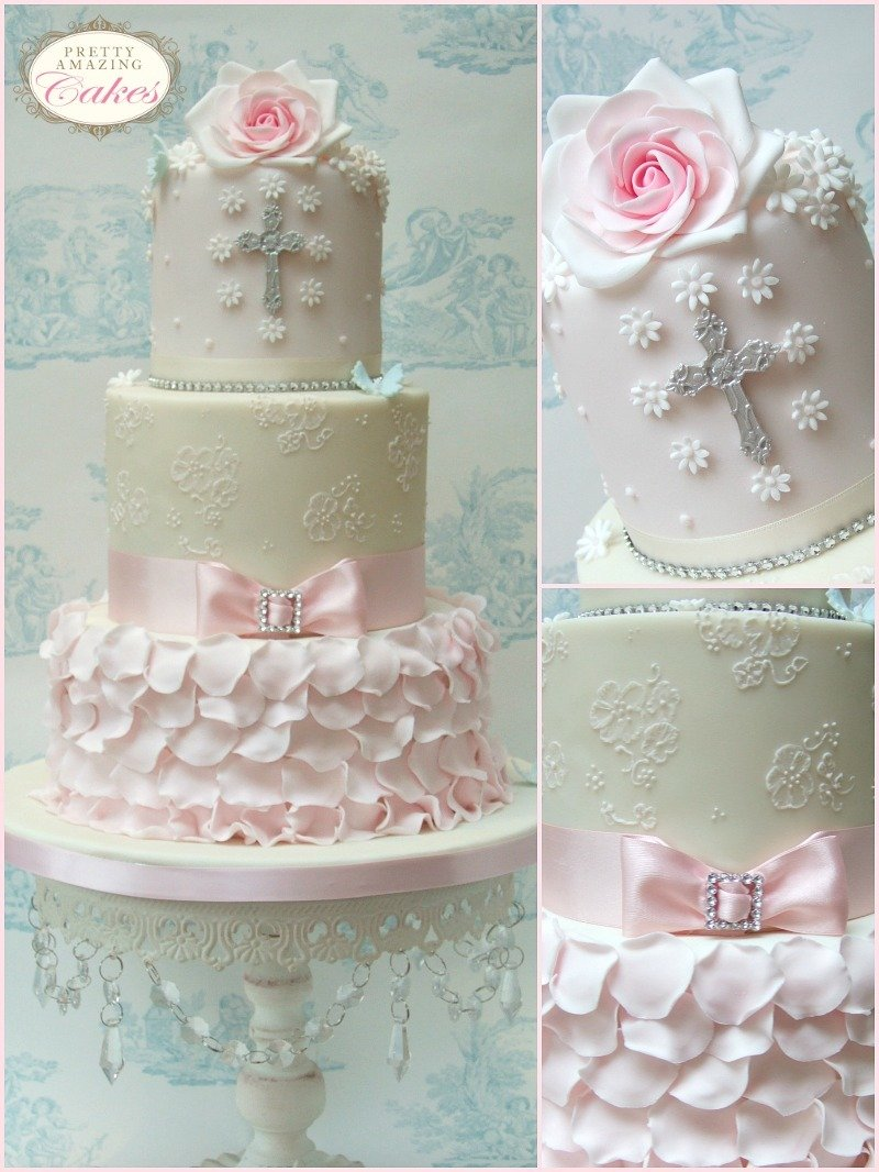 8 Communion Cakes For Girls With Verse Photo - Confirmation