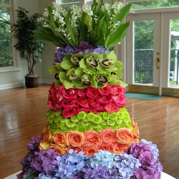 Stupendous 11 Arrangements Of Cakes Photo Birthday Cake Flower Arrangement Funny Birthday Cards Online Chimdamsfinfo