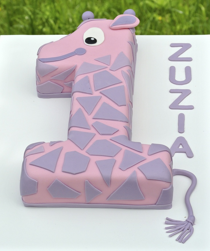 10 Giraffe Girl First Birthday Cakes Photo Girl First Birthday