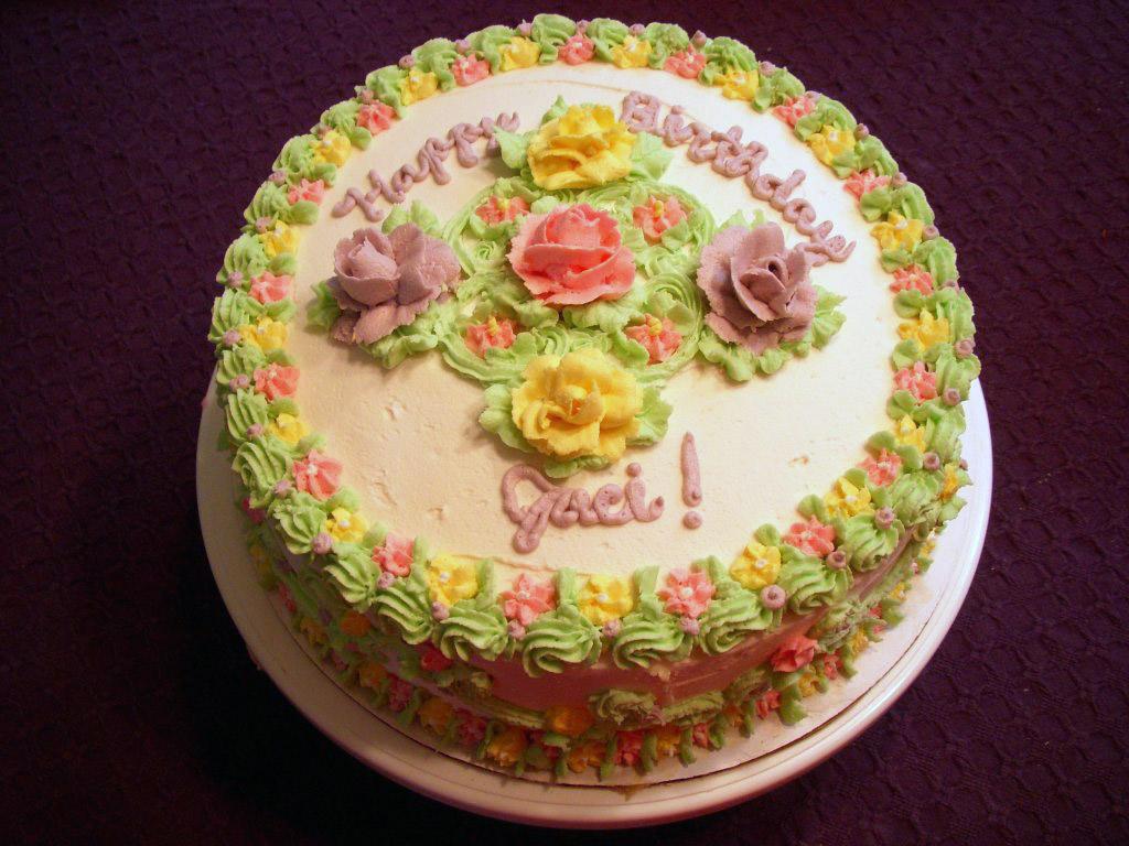 9 Happy Birthday Beautiful Cakes With Flowers Photo Happy Birthday