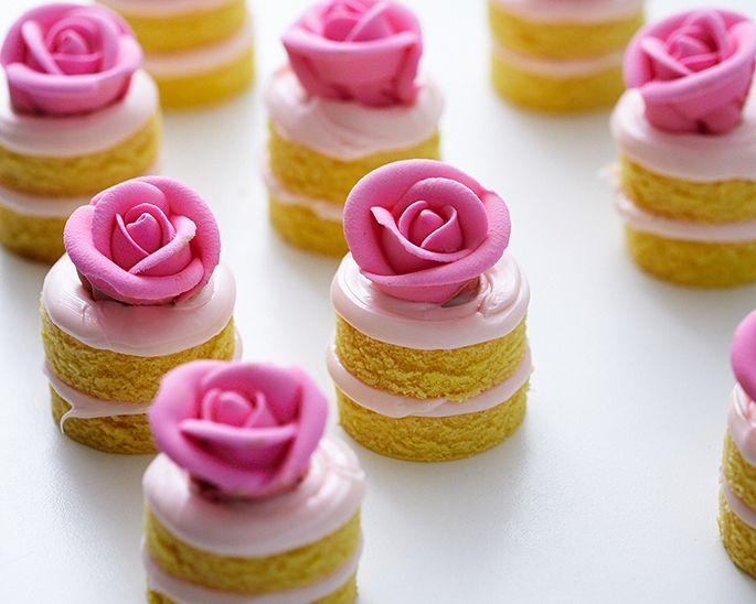 10 Individual Mini Cakes Icing Photo Individual Mini Birthday