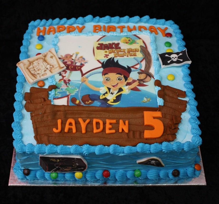 Terrific 9 Jake The Pirate Birthday Cakes For Boys Photo Jake And Birthday Cards Printable Trancafe Filternl