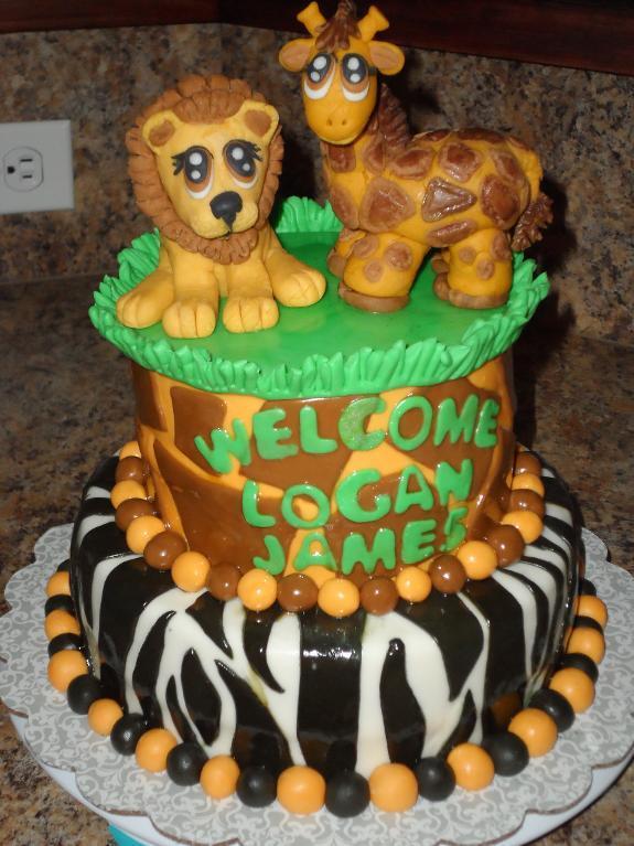 Jungle Baby Shower Cakes Walmart