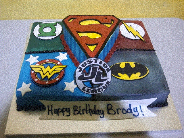 Awesome 9 Justice League Birthday Cakes Boys Photo Justice League Cake Funny Birthday Cards Online Kookostrdamsfinfo