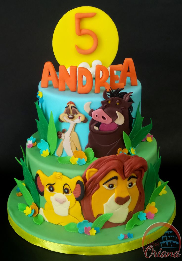 7 Lion King Birthday Cakes With Fondant Photo Lion King Cake Baby