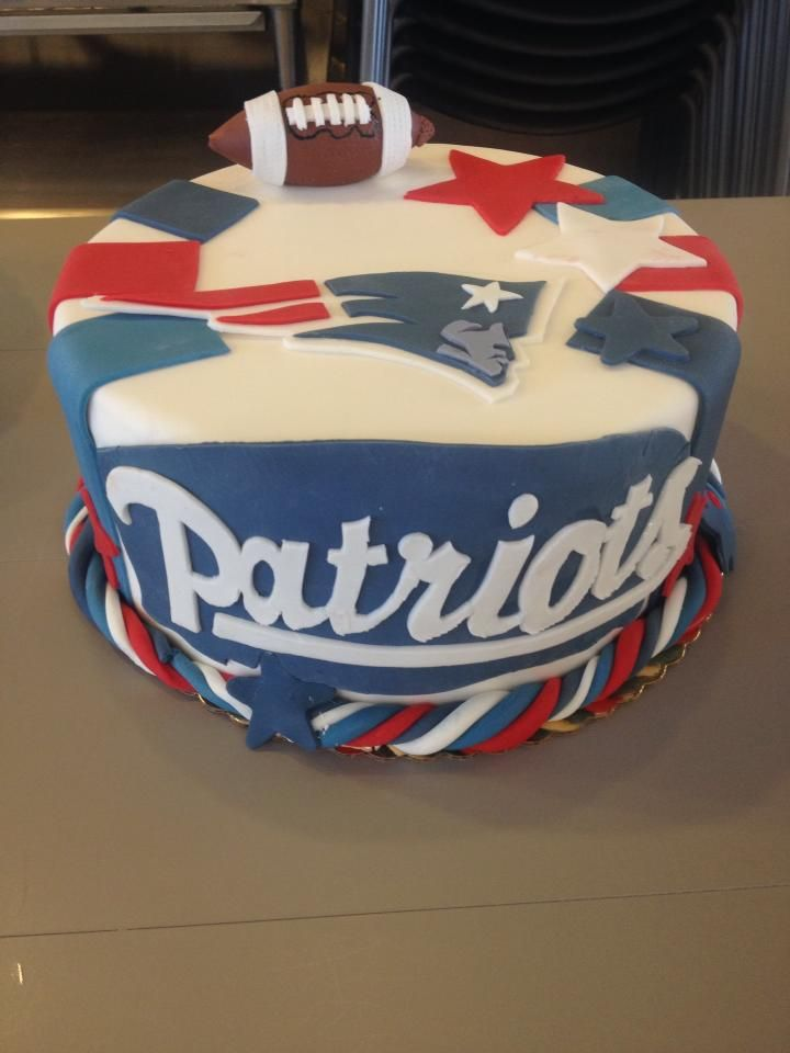 9 New England Patriots Happy Birthday Cakes Photo Patriots
