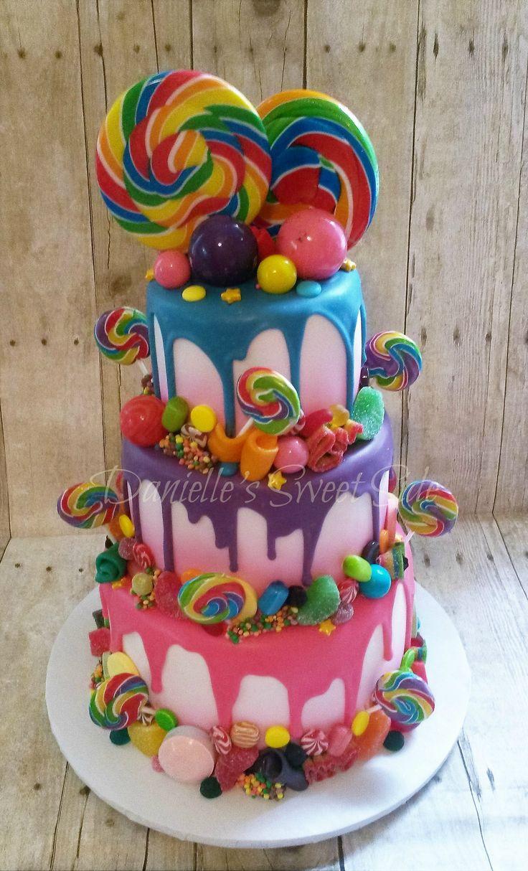 Superb 8 Candy Birthday Cakes Photo Candy Shop Birthday Cake Cute Personalised Birthday Cards Xaembasilily Jamesorg
