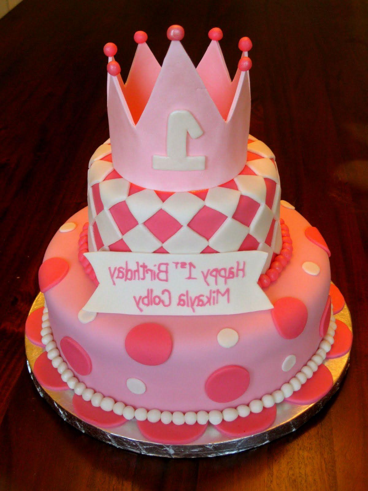 9 One Year Baby Girl Cakes Photo 1 Year Old Girl Birthday Cake 1