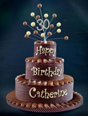 Groovy 7 3 Tier Chocolate Birthday Cakes For Julie Photo 3 Tier Funny Birthday Cards Online Elaedamsfinfo