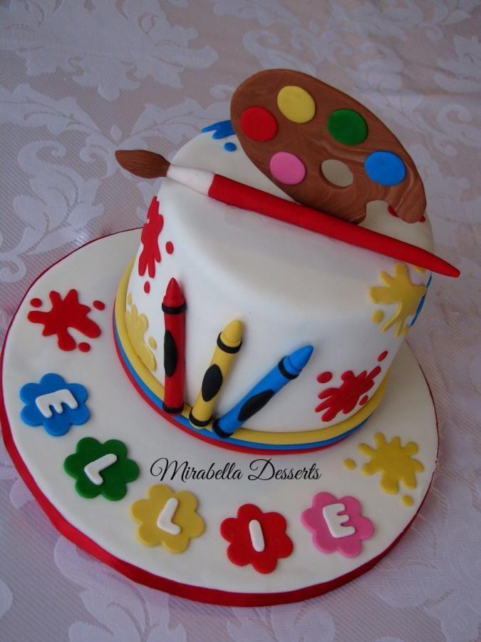Astonishing 10 Art Girl Birthday Cakes Photo Moist Chocolate Cake Art Funny Birthday Cards Online Necthendildamsfinfo