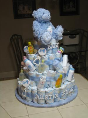 13 Homeade Pamper Cakes For Boys Photo Diaper Cake Boy Baby