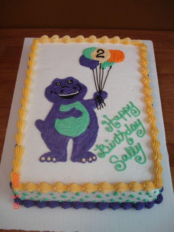 13 Barney Birthday Cakes For Boys Photo