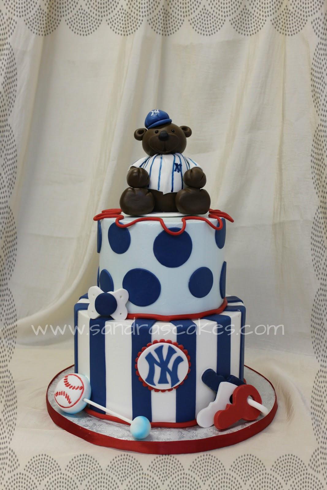 8 Yankee Baseball Baby Shower Cakes Photo Baseball Baby Shower