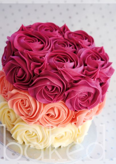 Groovy 13 Lots Of Birthday Cakes With Roses On Them Photo Buttercream Personalised Birthday Cards Veneteletsinfo
