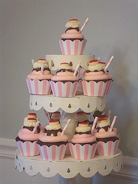 Cupcake Ice Cream Sundae Cake