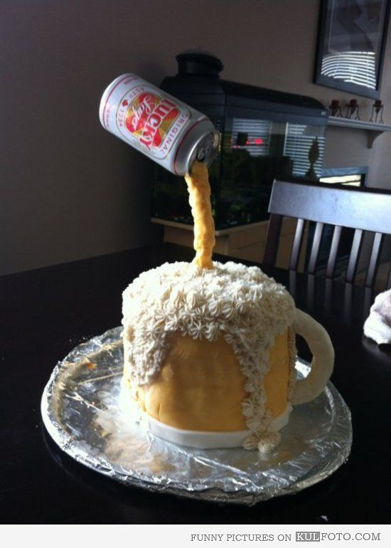 10 Amazing Beer Cakes Photo Funny Beer Birthday Cake Beer Bottle